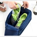กระเป๋าเก็บรองเท้าแบบกล่องสี่เหลี่ยม (พับเก็บได้)