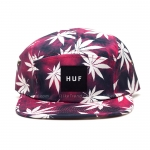 หมวก HUF Tie Dye Plantlife 5-Panel Red