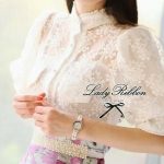 Lady Martin Vintage chic Organdy Blouse
