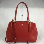 สินค้าพร้อมส่งจาก USA » กระเป๋า COACH f36637 Crossgrain Leather Medium Christie Carryall Crossbody Red
