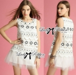 Lady Maggie Pretty Feminine Flower Embroidered Lace Dress
