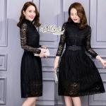 Lady elegant lace dress + belt by Aris Code