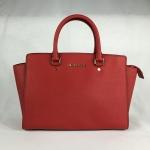 สินค้าพร้อมส่งจาก USA » กระเป๋า Michael Kors Selma 30S3GLMS7L Large TZ Satchel Red Leather Handbag