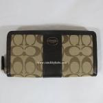 กระเป๋า สตางค์ COACH LEGACY SIGNATURE ACCORDION ZIP WALLET 48463 SKHMA