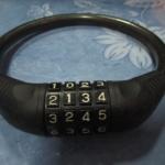 กุญแจล็อคล้อแบบรหัสลับ