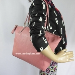 กระเป๋า COACH F34494 SVDQ7 Pebbled Leather Kelsey Satchel (Shadow Rose)