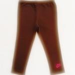 GP-081 (3Y) กางเกงเลคกิ้ง Nike สีน้ำตาลไหม้ ปักแบรนด์ Nike สีชมพู