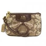 กระเป๋าสตางค์  COACH 47937 B4/KM Madison Python Print Small Wallet Wristlet
