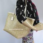 กระเป๋า Coach F34104 IMDQC Signature Street Zip Tote Bag GOLD/LIGHT KHAKI/CHALK