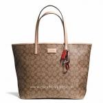 กระเป๋า Coach F27393 SKHT2 Park Metro Signature Tote Handbag Purse in Brown