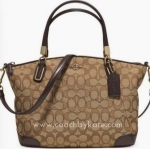 Coach F36181 IMC7C OUTLINE SIGNATURE SMALL KELSEY SATCHEL IM/KHAKI/BROWN สีน้ำตาล