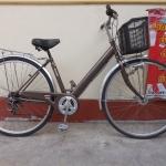 Marushi จักรยานแม่บ้านญี่ปุ่น มีเกียร์ ไฟ ตะกร้า