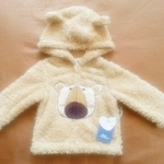 ฺBSH-188 (6-12M,12-18M,18-24M) เสื้อกันหนาวขนแกะ Mon Caramel สีน้ำตาล ลายลูกหมา ขนนุ่ม