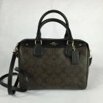 สินค้าพร้อมส่ง » กระเป๋า COACH F36702 MINI BENNETT SATCHEL IN SIGNATURE IMITATION GOLD/BROWN/BLACK