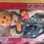 ตุ๊กตานอนดูดนมขยับได้มีเสียง สีฟ้า