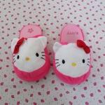 รองเท้าใส่ในบ้าน ออฟฟิศ คิตตี้ kitty-3 ขนาด free size ลายหน้าคิตตี้โบว์แดง