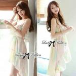 Lady Ellie Feminine Mixed Pastels Mermaid Dress