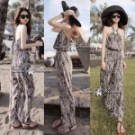 Lady Black&White Chill Out Halter-neck Jumpsuit