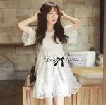Lady Taylor Little Princess Lace Mini Dress in White