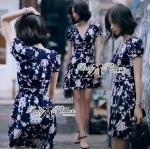 Lady Elena Minimal Chic Flower Print Dress