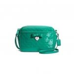 กระเป๋า Coach embossed liquid gloss green mini camera bag purse handbag F49430 SVBHB