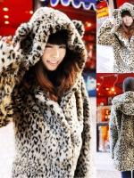 ++สินค้าพร้อมส่งค่ะ++เสื้อ jacket เกาหลี ตัวยาว แขนยาว มี hood หูเสือ แต่งหาง ลายเสือ มีซับในอย่างดีค่ะ – สี Leopard