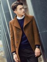 เสื้อโค้ทแจ็คเก็ตแขนยาว คอปกสูท ผ้าขนสัตว์หนา มี5สี