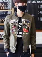เสื้อแจ๊คเก็ตเกาหลี แนวเบสบอล พิมพ์ลายด้านหน้า มี4สี