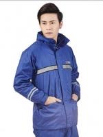 เสื้อกันฝนเกาหลี เสื้อแขนยาว+กางเกงขายาว แต่งแถบสะท้อนแสง มี3สี