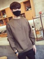 เสื้อแฟชั่นแขนยาวเกาหลี ผ้าเรียบสวย แต่งกระเป๋าเสื้อ มี3สี