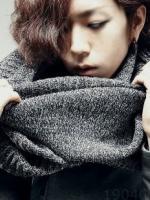 ผ้าพันคอแฟชั่นเกาหลี สีเทาอ่อน หนานุ่ม ดีไซส์เท่คล้องคอ