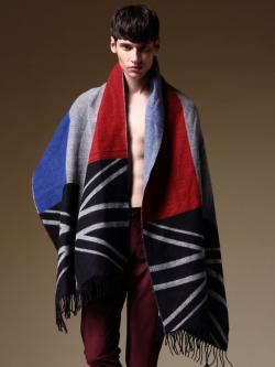ผ้าพันคอแฟชั่นเกาหลี ดีไซส์สลับสี สไตล์ธงชาติ มี2สี