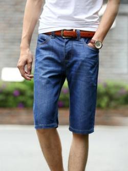 กางเกงยีนส์ขาสั้นเกาหลี แนวยุโรป แต่งลายคลื่น ดีไซส์กระเป๋า มี2สี