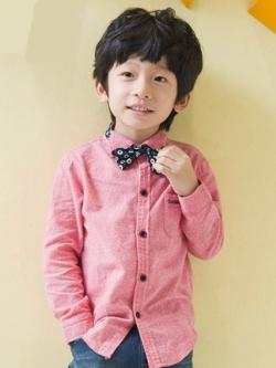 เสื้อเชิ้ตแขนยาวเด็กเกาหลี แนวคลาสสิค แต่งโบว์น่ารัก มี3สี