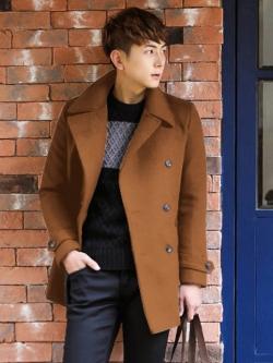 เสื้อแจ็กเก็ตแขนยาวเกาหลี แต่งกระดุมคู่ ดีไซส์คอปกเสื้อ มี4สี