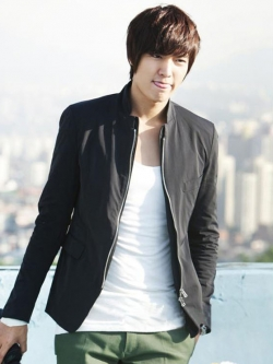 เสื้อแจ็กเก็ตแขนยาวเกาหลี Lee Min Ho สีตามรูป ดีไซส์ซิบ