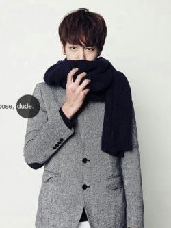 ผ้าพันคอถักนิตติ้งแนวเกาหลี เป็นผ้าขนสัตว์ <มี4สี>