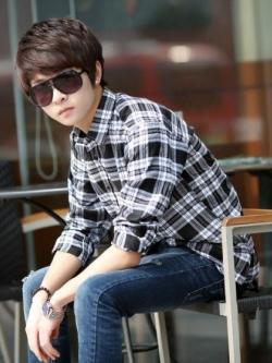 เสื้อเชิ้ตลายสก็อตแขนยาว แนวเกาหลี มี13แบบ