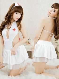 SC608 ชุดนอนเซ็กซี่ ซีทรู คอสเพลย์นางพยาบาลสาวสุดเซ็กซี่ [พร้อมส่ง]