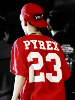 เสื้อยืดแขนสั้นเกาหลี PYREX 23 สไตล์ฮิปฮอป มี3สี