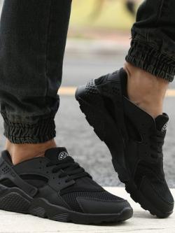 รองเท้าผ้าใบเกาหลี เชือกผูก แต่งขอบสลับ ดีไซส์ตาข่ายระบายอากาศ มี3สี