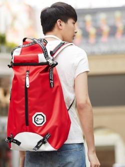 กระเป๋าสะพายหลังเกาหลี ทรงสูง จุของขนาดใหญ่ แต่งซิบกลาง มี3สี