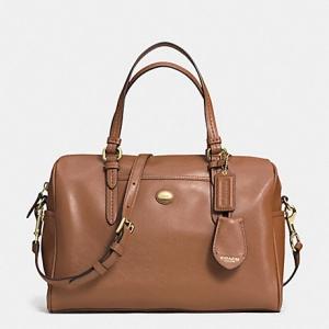 กระเป๋า COACH Peyton Leather Nancy Satchel Black F31403 B4/SD