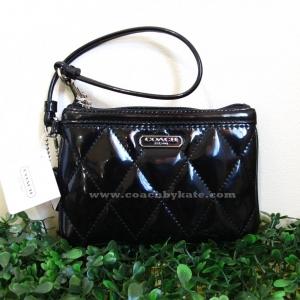 กระเป๋าคล้องแขน COACH f48214 สีดำหนังแก้ว