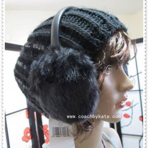 สินค้าอยู่ USA : ที่ปิดหูกันหนาว Kate Spade Ear Muff WJRU0233 luxe fur black 001