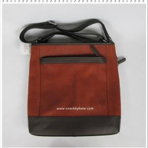สินค้าอยู่ USA: กระเป๋า COACH F71341 GMD0L Men's Camden Distressed Leather Tech XBody Bag สีส้มอิฐ