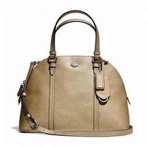 กระเป๋า Coach F25671 IMGLD Peyton Cora Domed Saffiano Leather Black Satchel Handbag