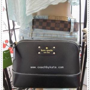 สินค้าอยู่ USA : กระเป๋า Kate Spade WKRU2895 hanna wellesley black(001) crossbody สีดำ