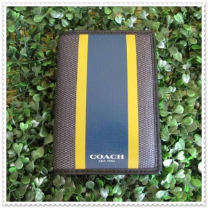 ปกพาสปอร์ต COACH F93396 C78 SIGNATURE HERITAGE PASSPORT ID CREDIT CARD CASE