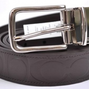 เข็มขัดชาย COACH MEN'S F66125 SMAMA LEATHER MONOGRAM LOGO CUT TO FIT REVERSIBLE BELT สำเนา
